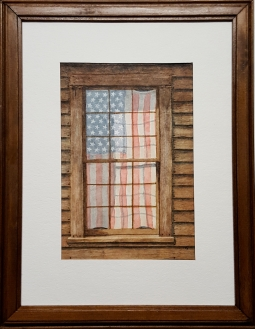 Flag in Window - SOLD