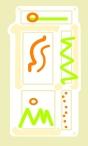 orange green squiggle