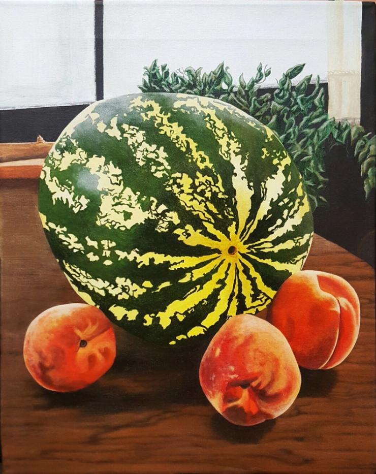 watermelon & peaches